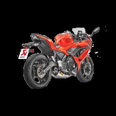 "Akrapovic ""Racing Line"" Full Exhaust with Carbon Fiber Tip  2017 Kawasaki  Ninja 650"