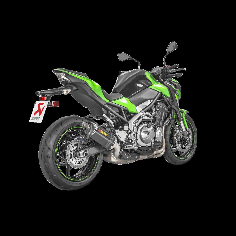 Akrapovic Racing Street Legal Carbon Fiber Slip On Muffler 17-18 Kawasaki Z900