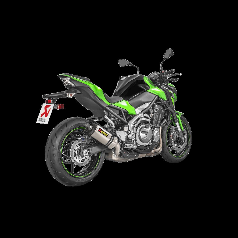 Akrapovic Racing Street Legal Titanium Slip On Muffler 17-18 Kawasaki Z900