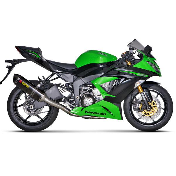Akrapovic Racing Line Carbon Fiber Full Exhaust System 13-18 Kawasaki  Ninja ZX-6R 636