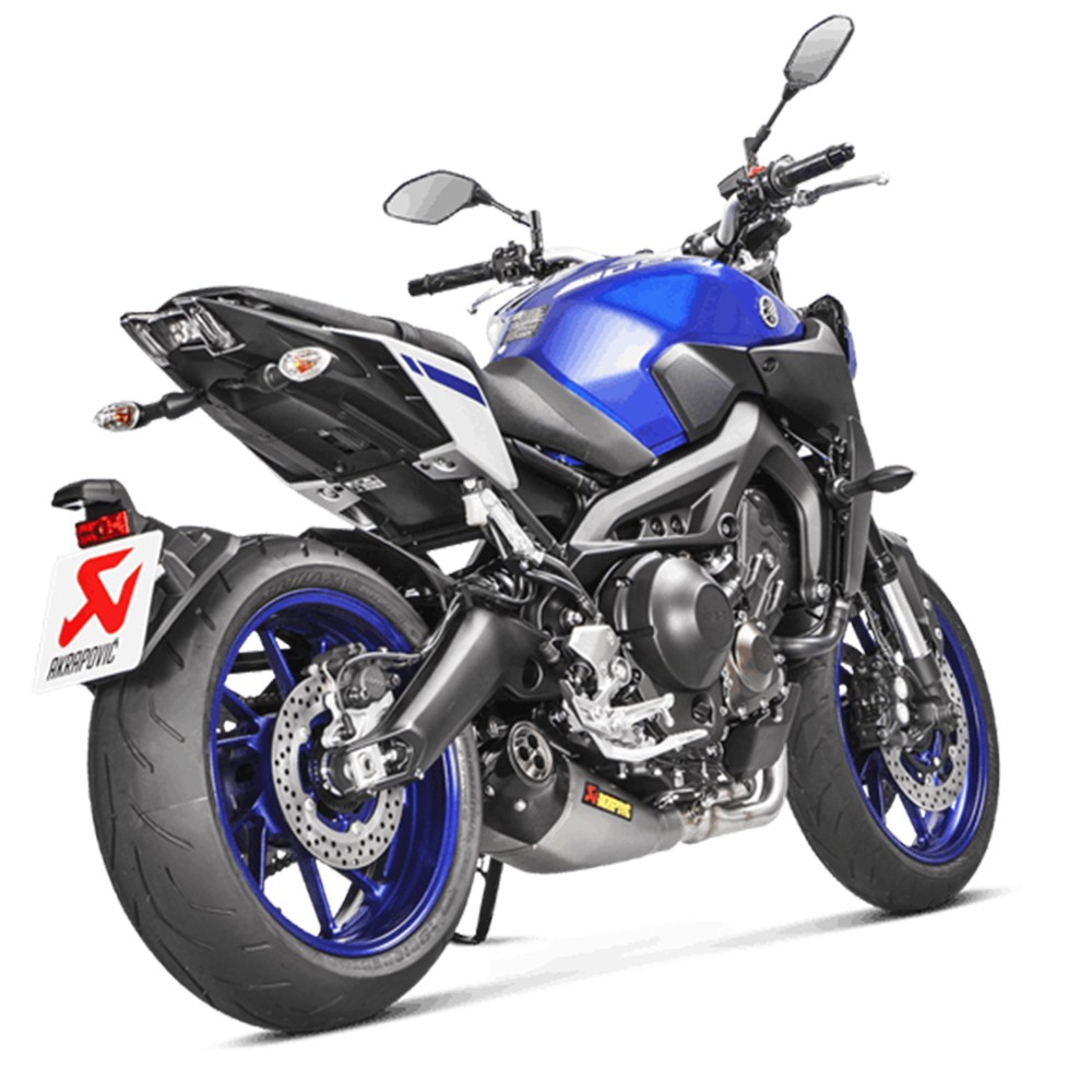 Akrapovic 'Racing Line' Full Exhaust System with Carbon Fiber End Cap 14-18 Yamaha FZ-09