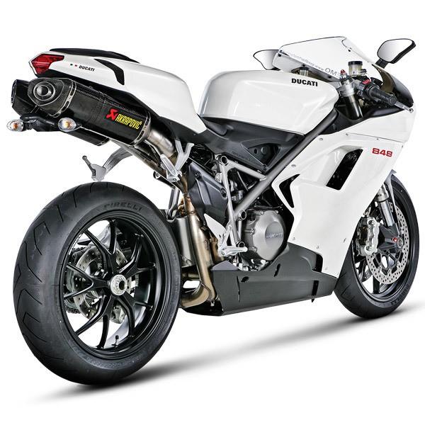 Akrapovic Racing Carbon Fiber Slip On Mufflers 08-13 Ducati 848 / EVO