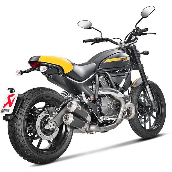 Akrapovic Racing Titanium Slip On Mufflers 15-16 Ducati Scrambler