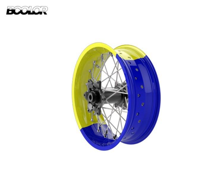 Alpina STS2 Tubeless Bicolor Custom Spoke Wheels Kawasaki KXF 1987 - 2019