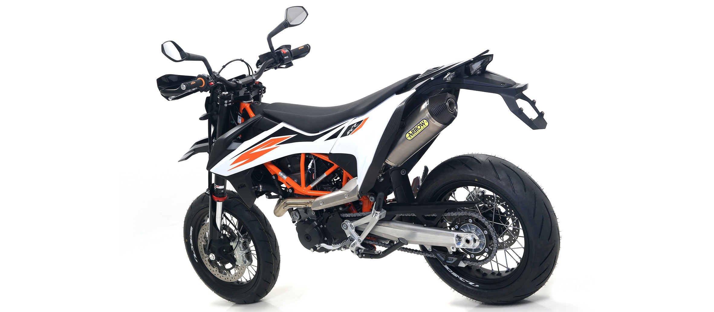 Arrow Racing Full Exhaust System, Titanium / Stainless - 2019+ KTM 690 SMC R