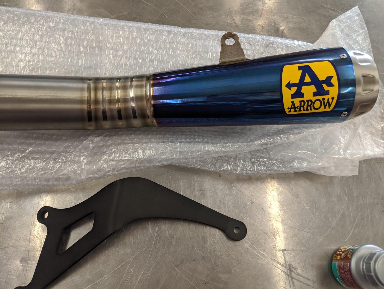 Arrow 2020 WSBK Full Titanium Exhaust System, Blue Canister - Kawasaki Ninja ZX-10R / ZX-10RR (2016-20)