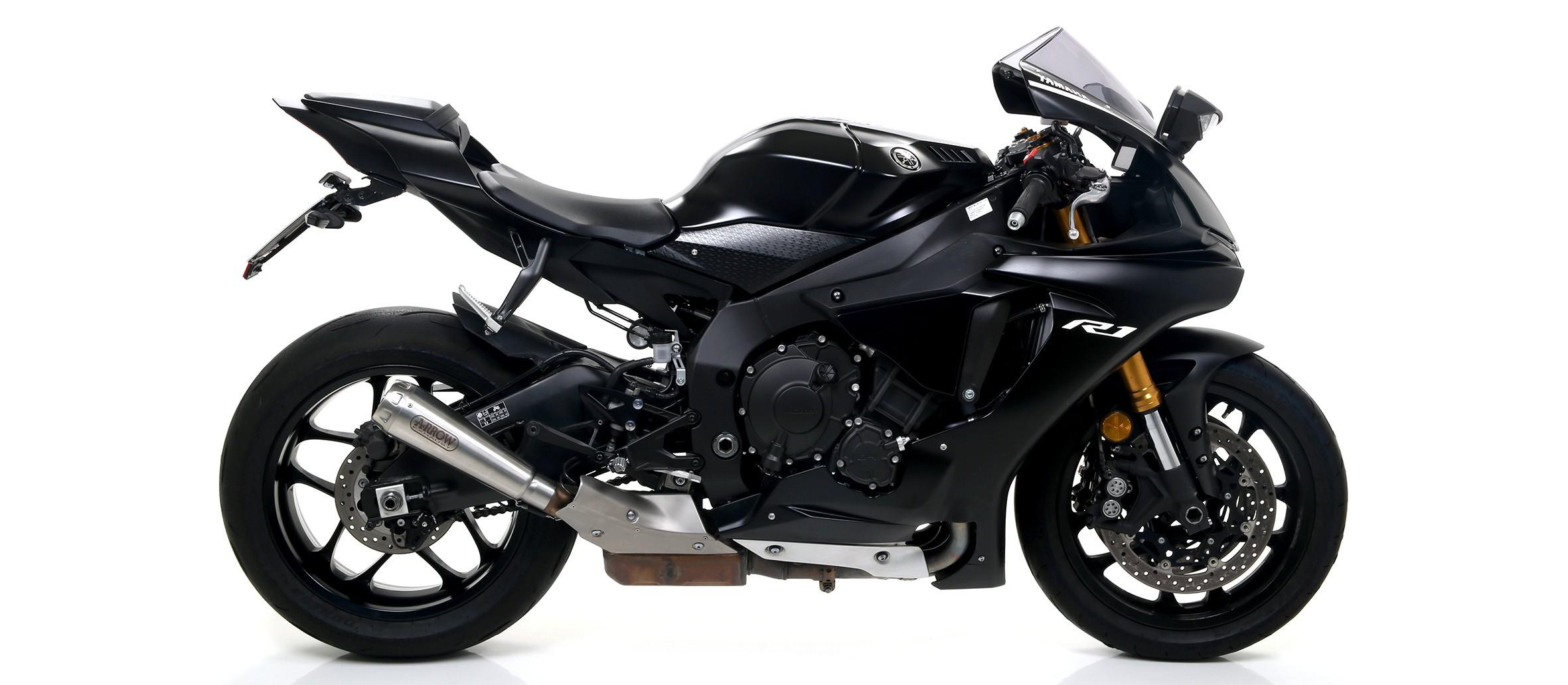 Arrow Pro Race Titanium Slip On For 2017 2019 Yamaha Yzf R1