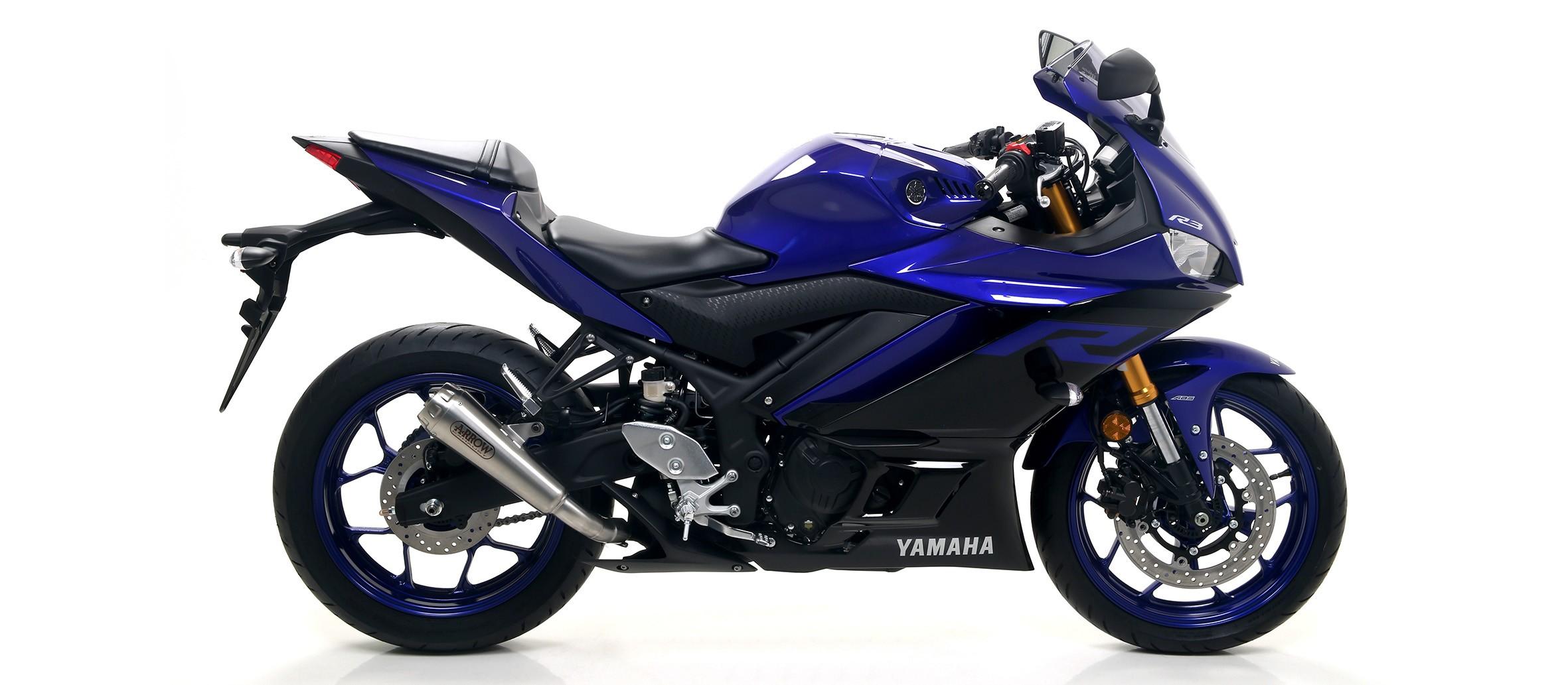 Arrow Pro Race Nichrom Slip On Muffler for 2019-2020 Yamaha YZF-R3