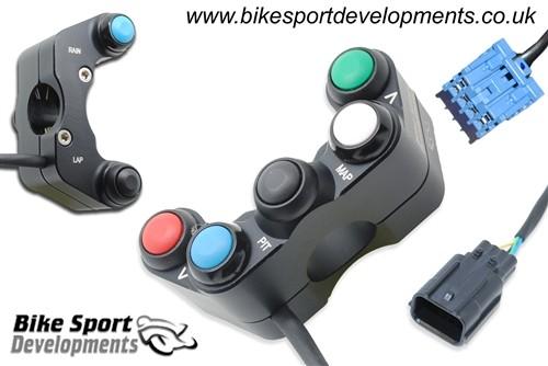 Bike Sport Developments - Plug & Play Left Side Button Pod - 17-19 Honda CBR1000RR w/ HRC Kit Harness