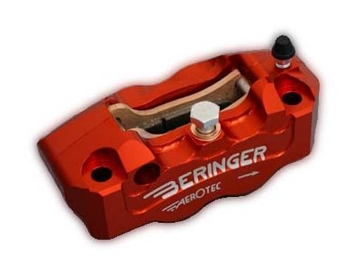 Beringer 100mm / 108mm Aerotec Billet Radial Race Calipers - Titanium Pistons with Magnets