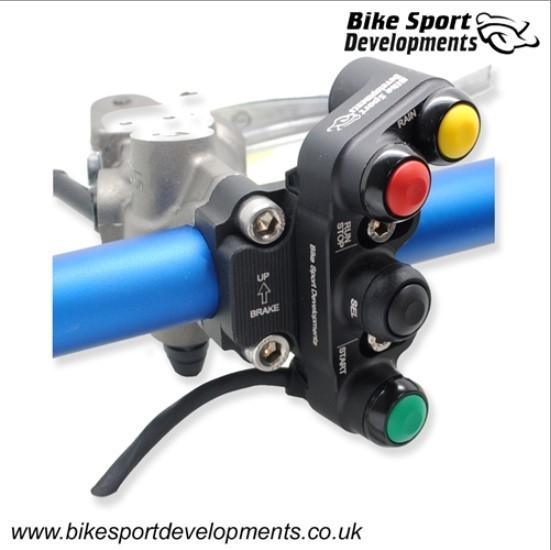 Bike Sport Developments - 4 Function Brake Mount - Stop / Run - Start - Select Rain Kawasaki ZX10RR 2021