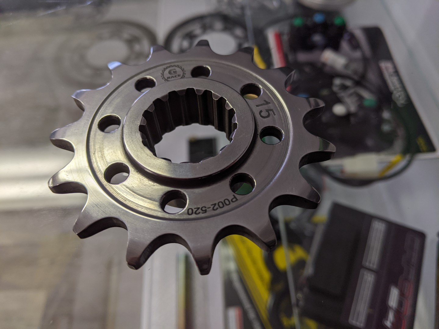Gandini Race Billet Burnished Steel Superfinished Superlight Front Sprocket - Ducati V4 / V4 R / V4 S