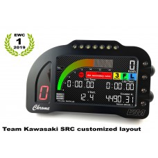 "i2M Chrome PLUS Full Color 5"" LCD Dash & GPS Lap Timer -  Plug & Play - 2016-2019 Kawasaki ZX-10R"
