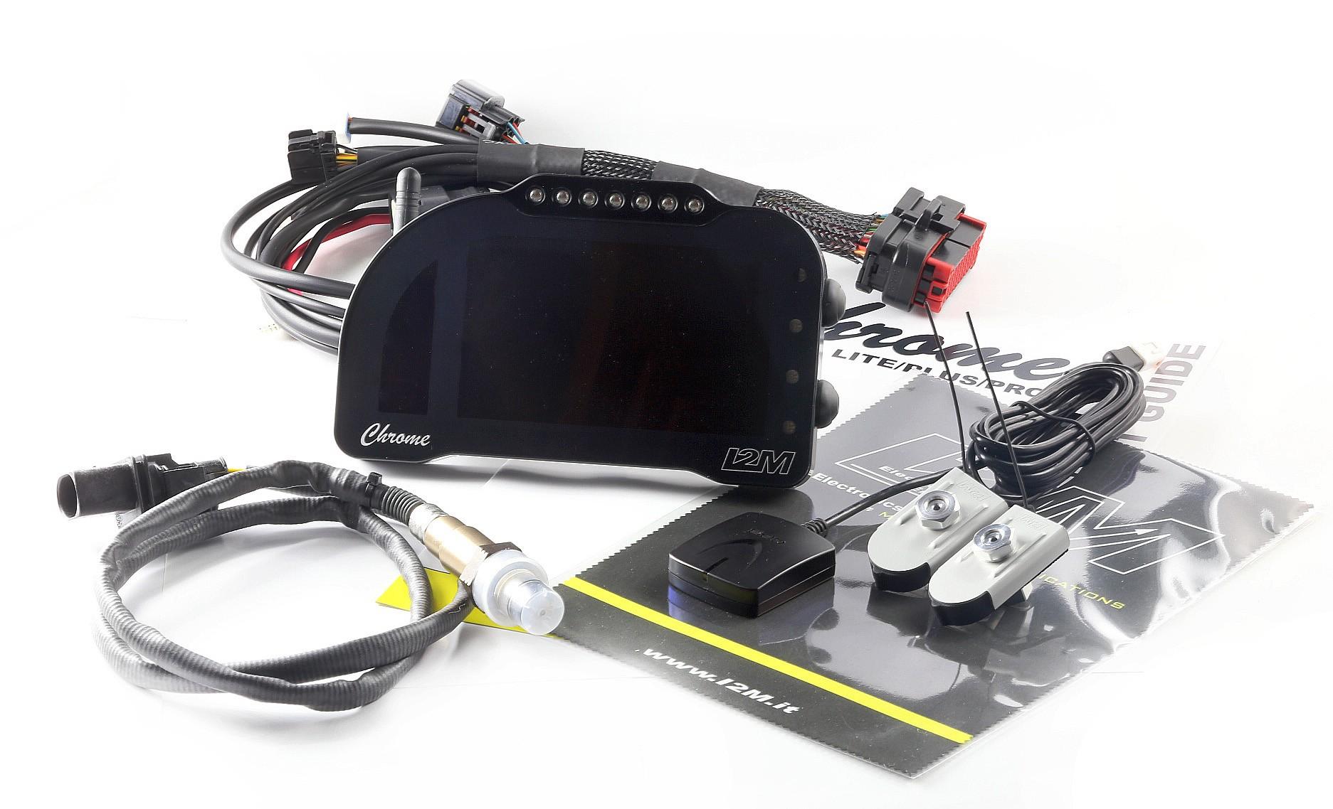 "i2M Chrome PRO2 5"" Full Color LCD Dash & GPS Lap Timer - Plug & Play -  Honda, Kawasaki, Suzuki, Yamaha, Ducati, MV Agusta, Aprilia, BMW"