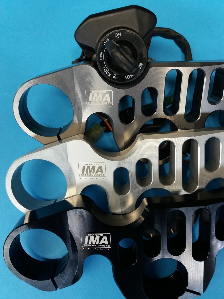 IMA Special Parts EVO Adjustable Triple Clamp, W/ Ignition Mount - Aprilia, BMW, Suzuki, Yamaha