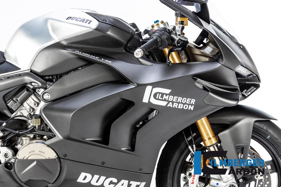 Ilmberger Carbon Fairing Side Panels (Matte) - Ducati Panigale V4R