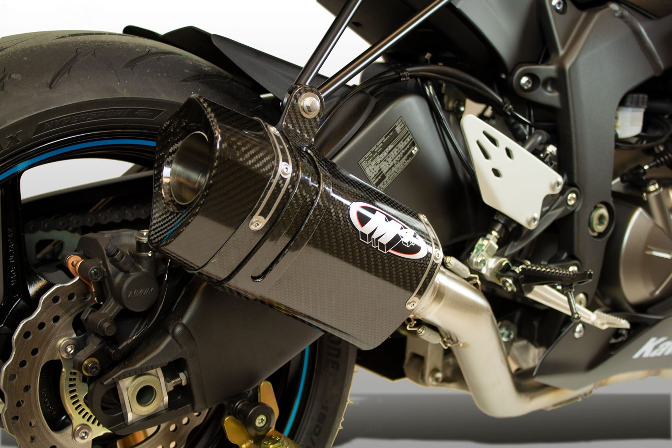 M4 Tech 1 Full System With Carbon Fiber Canister 2009 2019 Kawasaki