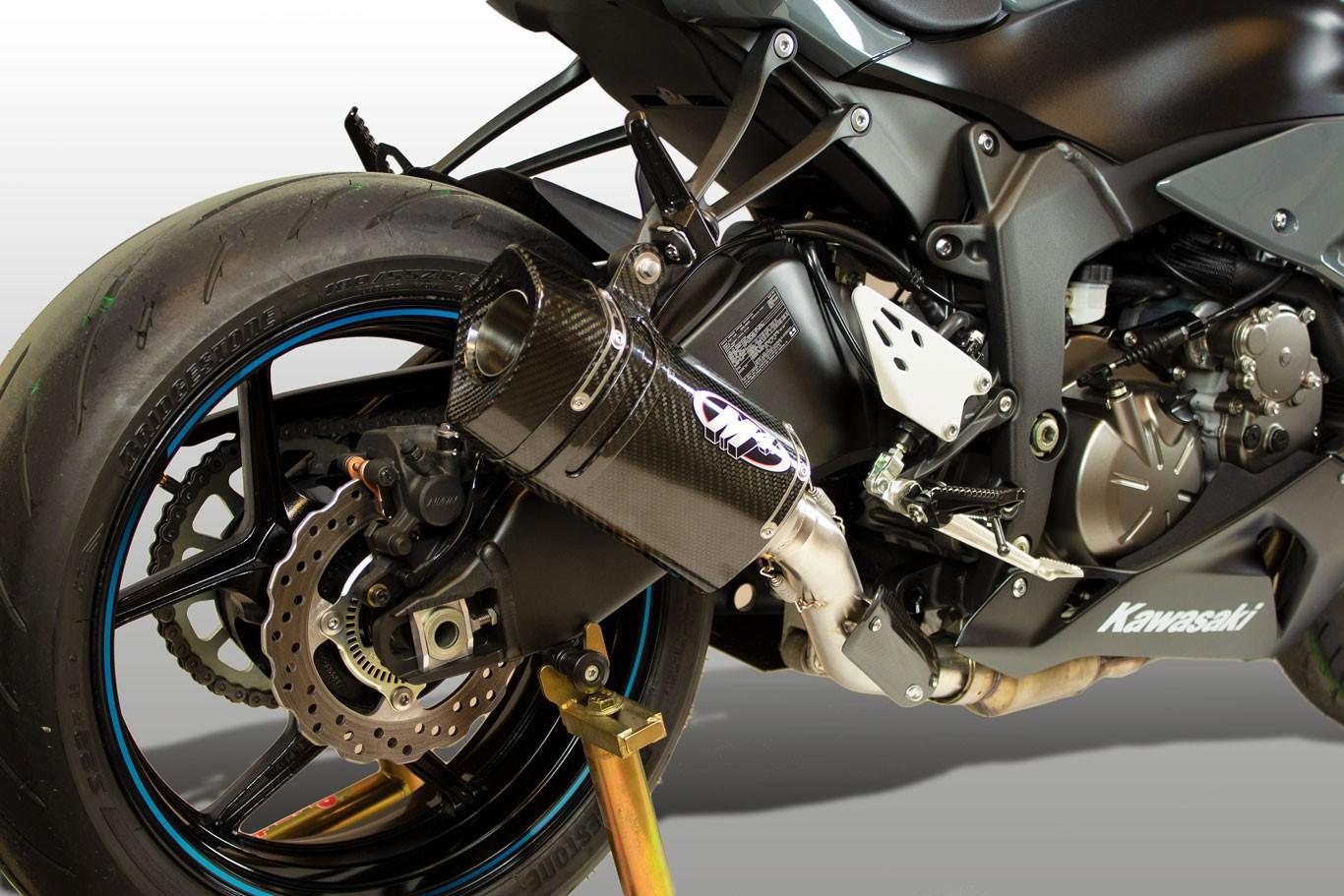 M4 Tech 1 Carbon Fiber Slip On 2009 2019 Kawasaki Ninja Zx 6r Ka6934