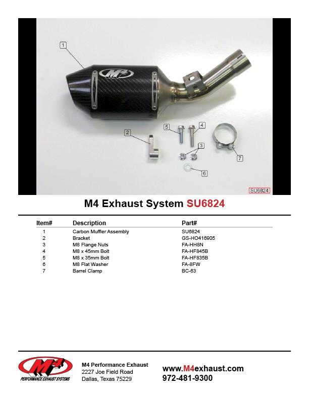 M4 Exhaust 'Street Slayer' Slip On Exhaust 06-07 Suzuki GSX-R600