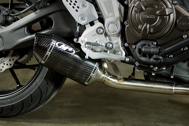 M4 Racing  Carbon Fiber Slip On 15-20 Yamaha FZ-07 / MT07