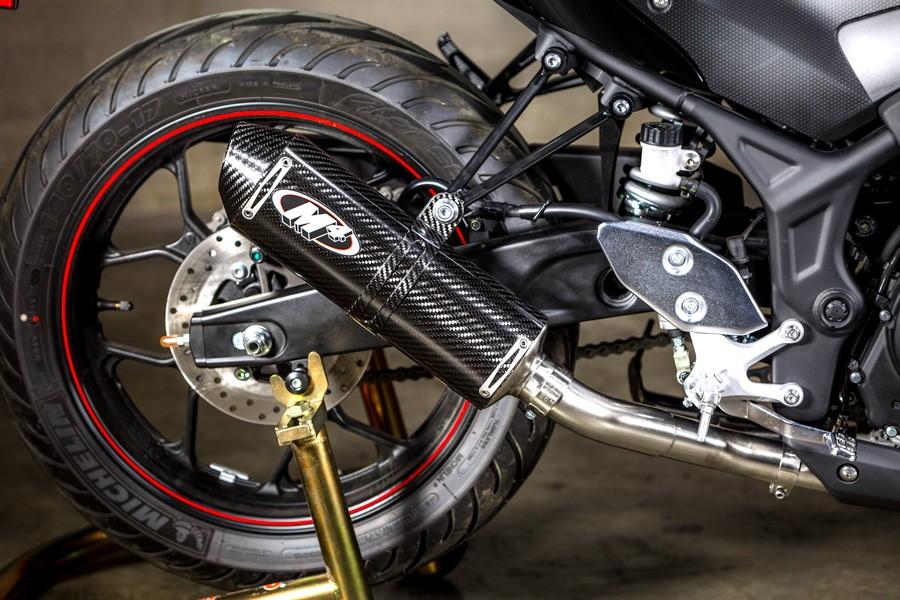 M4 Exhaust System w/ Stainless Steel Headers & Carbon Fiber Muffler-  2015-2020 Yamaha YZF-R3