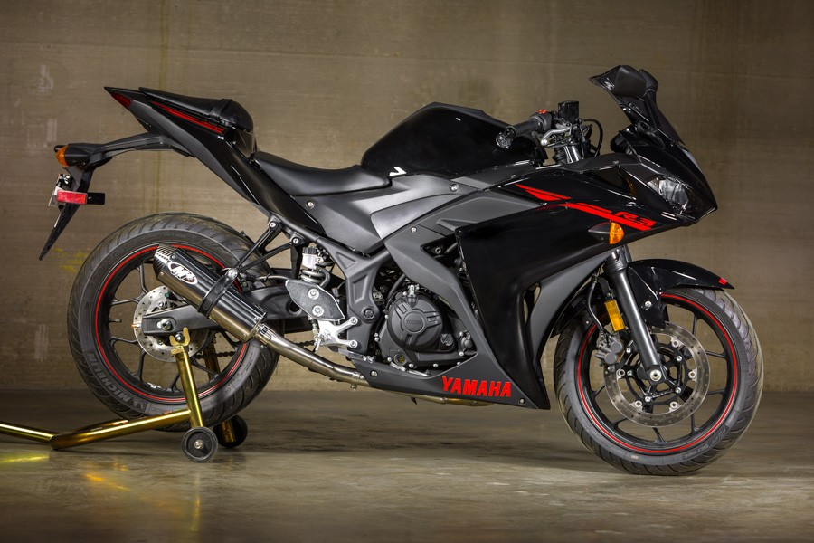 M4 Exhaust System w/ Stainless Steel Headers & Polished Muffler-  2015-2020 Yamaha YZF-R3