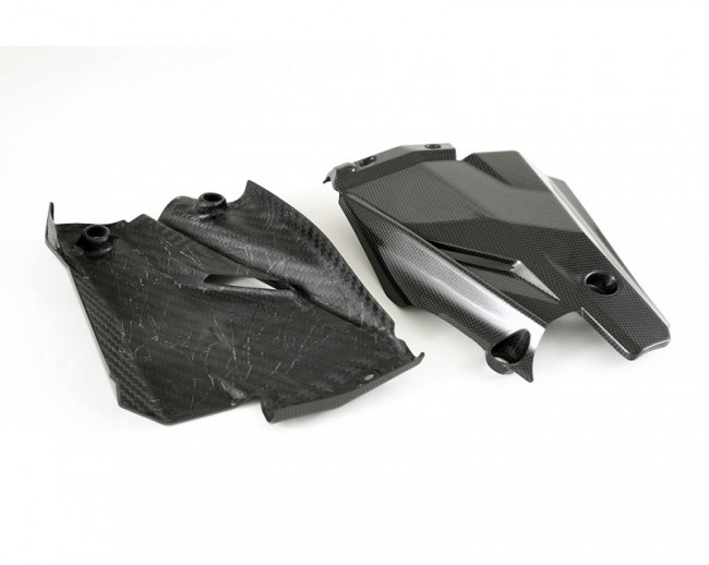 Moto Corse Carbon Fiber Belly Covers Strada Set - Ducati Streetfighter