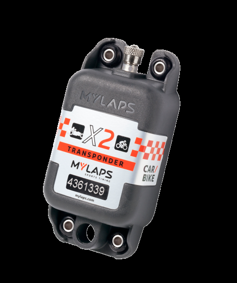 MyLaps X2 Transponder Rechargeable / Direct Power + Subscription - Motorcycle / Car