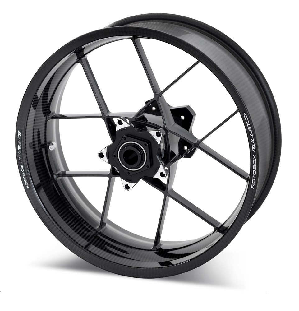 RotoBox Bullet Forged Carbon Fiber Wheels - Aprilia, BMW, Honda, Kawasaki, Suzuki, Yamaha