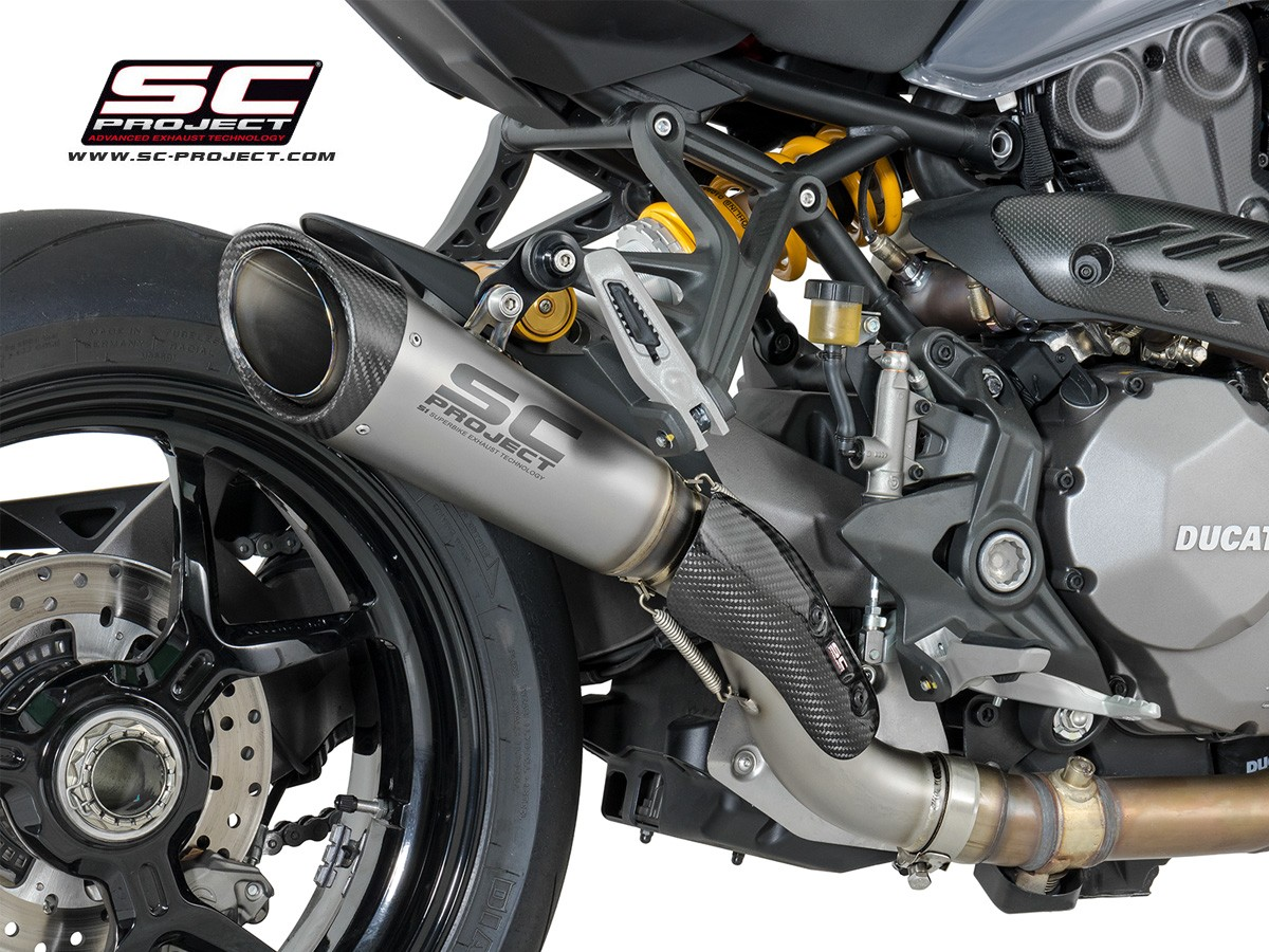 Sc Project Ducati Monster 1200s 17 18 S1 Slip On Exhaust D24 T41t