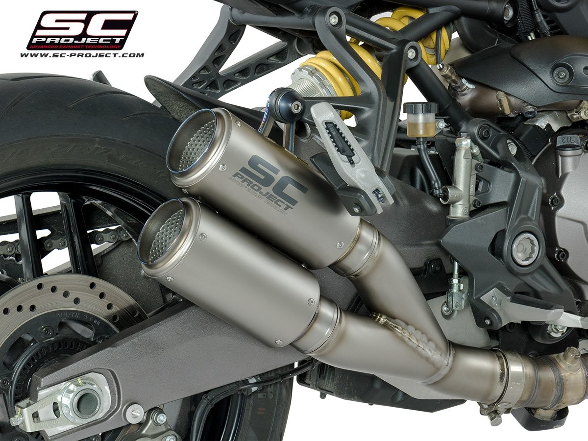 Sc Project 2018 2019 Ducati Monster 821 Dual Cr T Slip On Exhaust D25 Dt36 C T