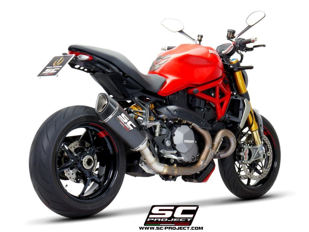 SC-Project Ducati Monster 1200 (17-18) & 1200R (16-18) SC1-R Carbon Fiber Exhaust