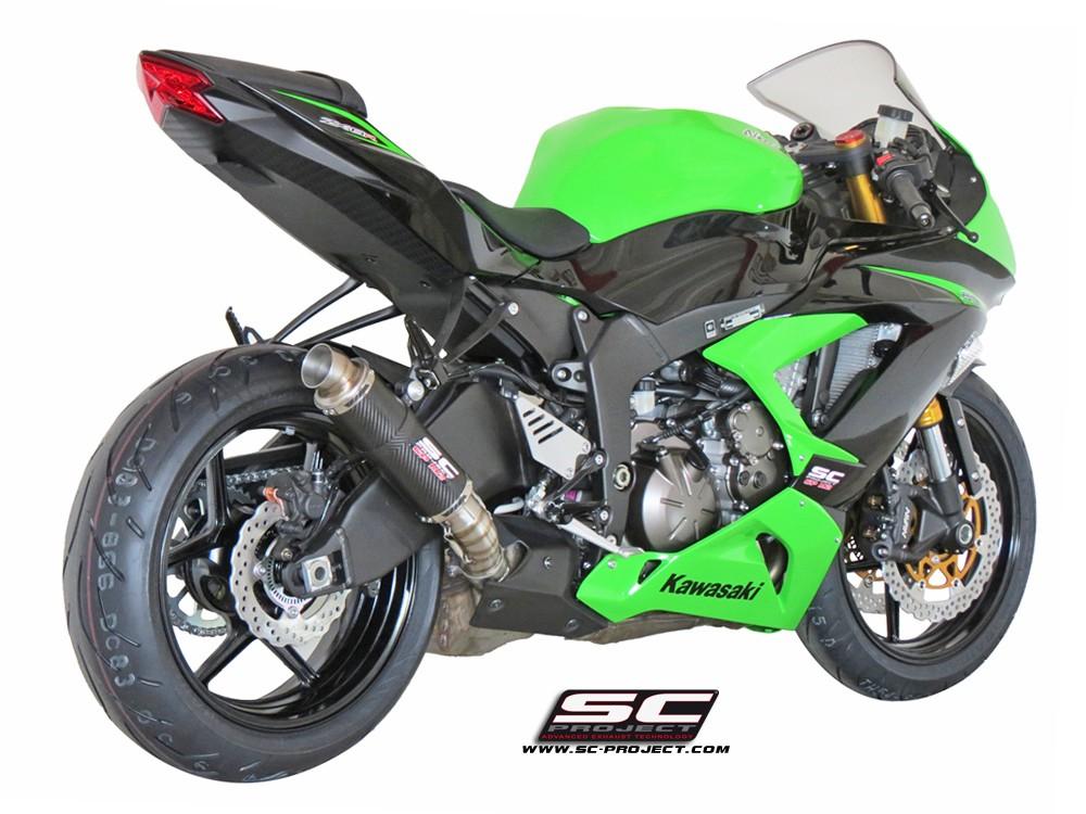 Sc Project Gp M2 Exhaust Kawasaki Ninja Zx 6r 636 2013 2018 K16 18c
