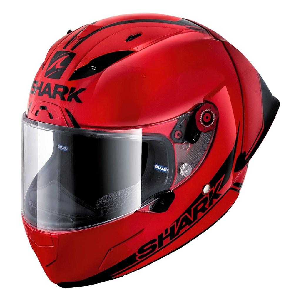 SHARK RACE-R PRO GP Spoiler Helmet 30th Anniversary RED / RED / BLACK