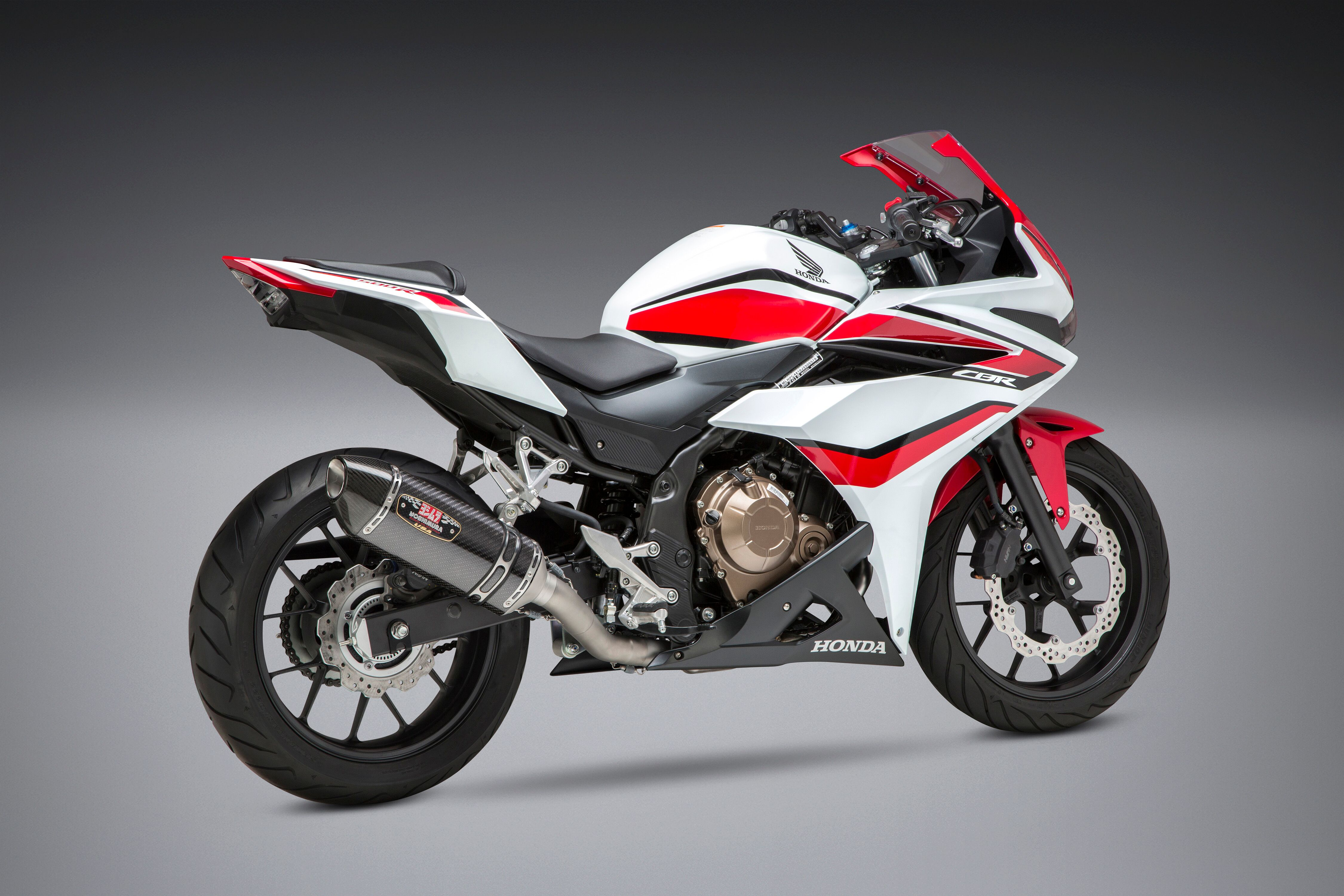Yoshimura R-77 Race Series Exhaust System with Carbon Fiber Cannister for 2014-2018 Honda CBR500R