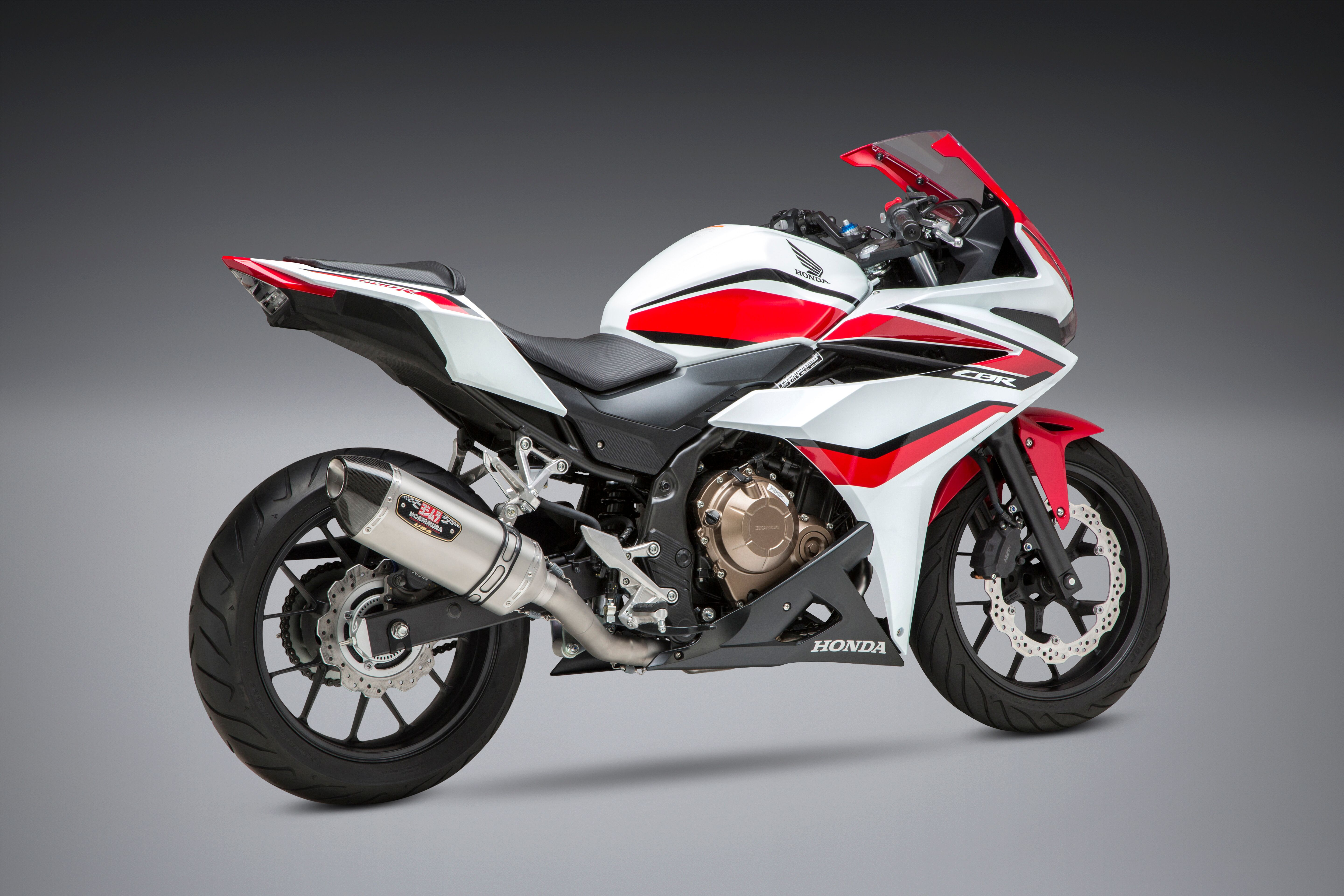 Yoshimura R-77 Race Series Exhaust System with Stainless Steel Cannister for 2014-2018 Honda CBR500R