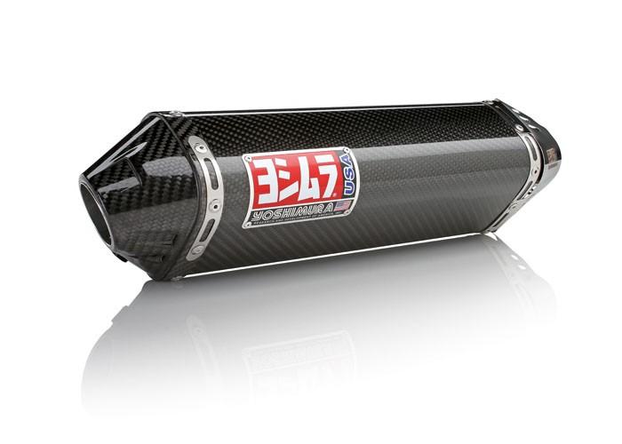 Yoshimura TRC Full Exhaust System - 2009-15 Yamaha Zuma 125 - Stainless / Carbon (SS-CF-CF)