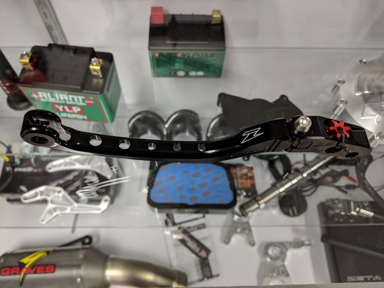 Zeta Flight Folding Low Drag Brake Lever - Brembo Radial Master Cylinder - 19x18, 16x18