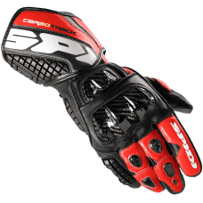 Spidi Carbo Track Leather Gloves - Black / Red