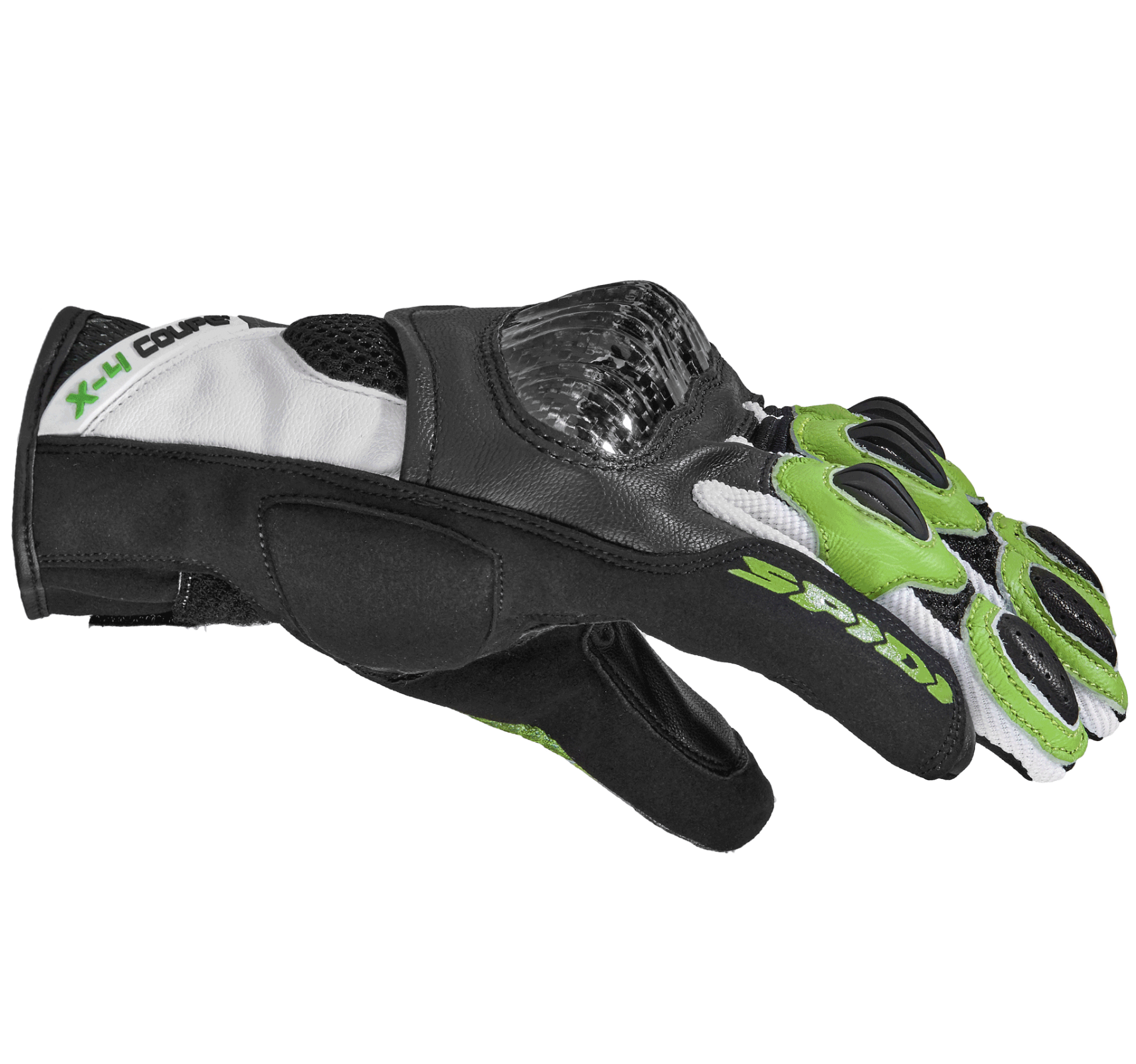 Spidi X4 Coupé Gloves -  Black / White / Green