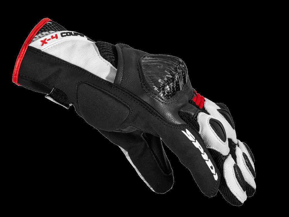 Spidi X4 Coupé Gloves -  Black / White / Red