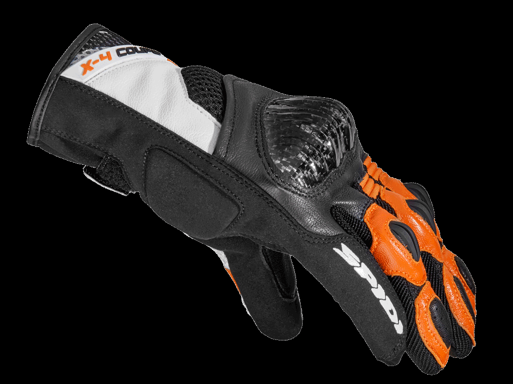 Spidi X4 Coupé Gloves -  Black / White / Orange