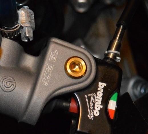 Gold Titanium Lever Pivolt Bolt Pins for Brembo RCS Master Cylinders