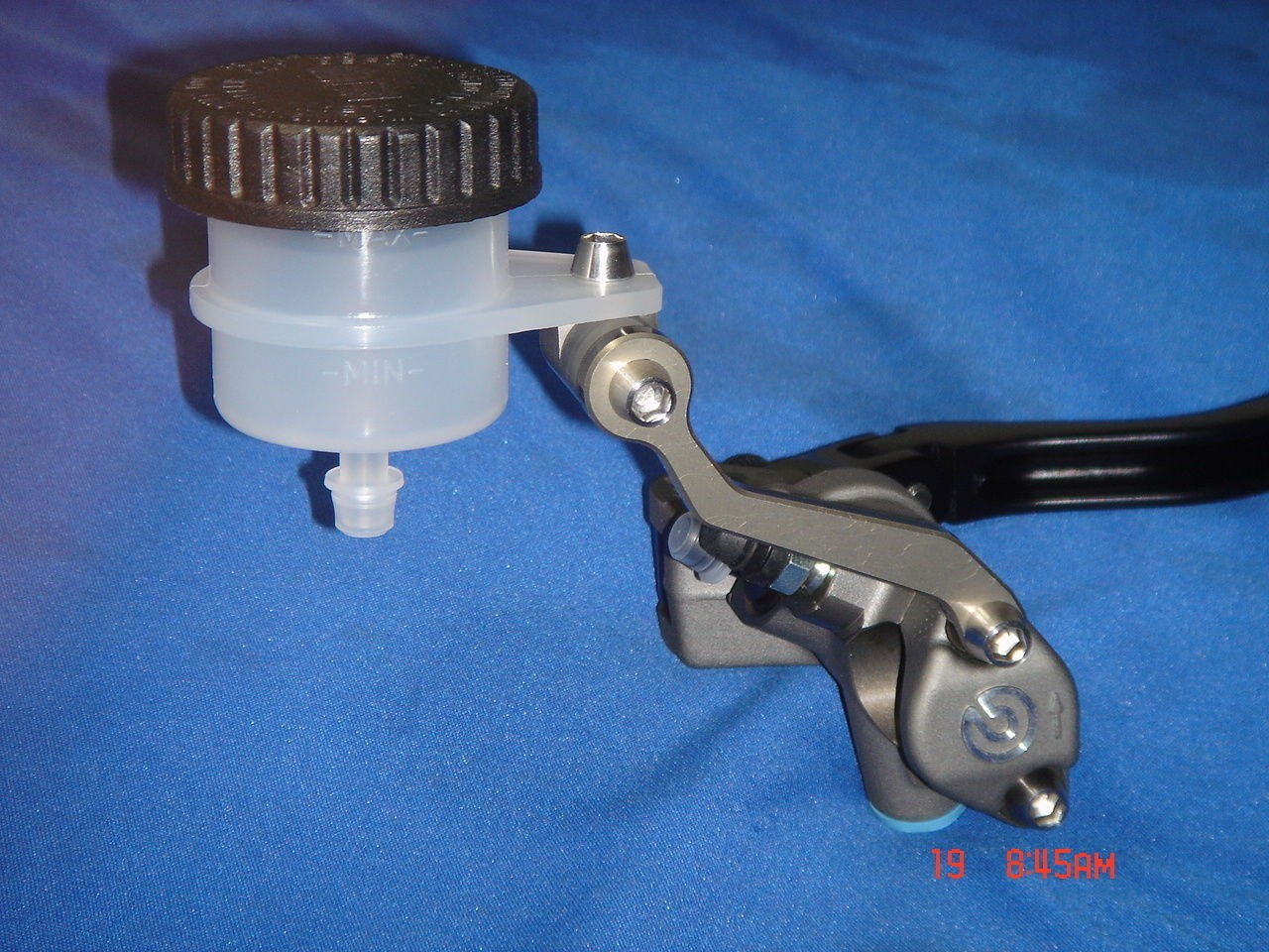 Billet reservoir bracket for Brembo, Nissin and most other master cylinders