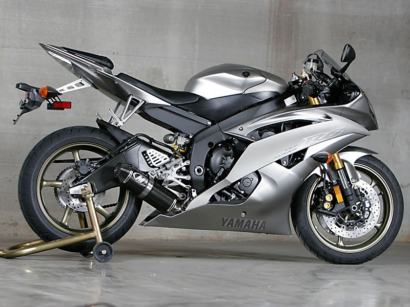 M4 2006 2014 yzf r6 full titanium exhaust with carbon for Yamaha r6 carbon fiber exhaust
