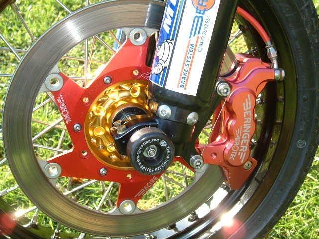 Beringer Supermoto Top Race Brake Kit: 6 Piston Caliper, Master Cylinder and Disc - Honda, Suzuki, Yamaha, KTM, Kawasaki, more