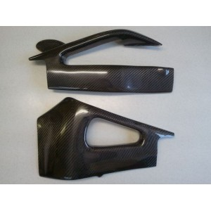 07-08 Yamaha YZF-R1 Lacomoto Contoured Carbon Fiber Swingarm Covers