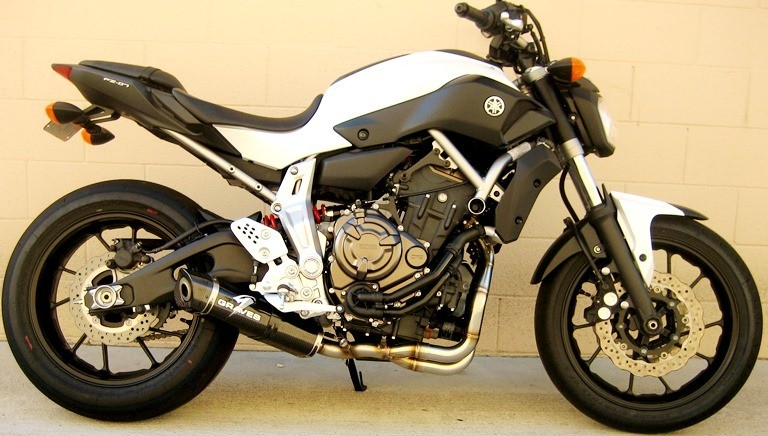Graves motorsports yamaha fz07 full exhaust system for Yamaha exhaust systems