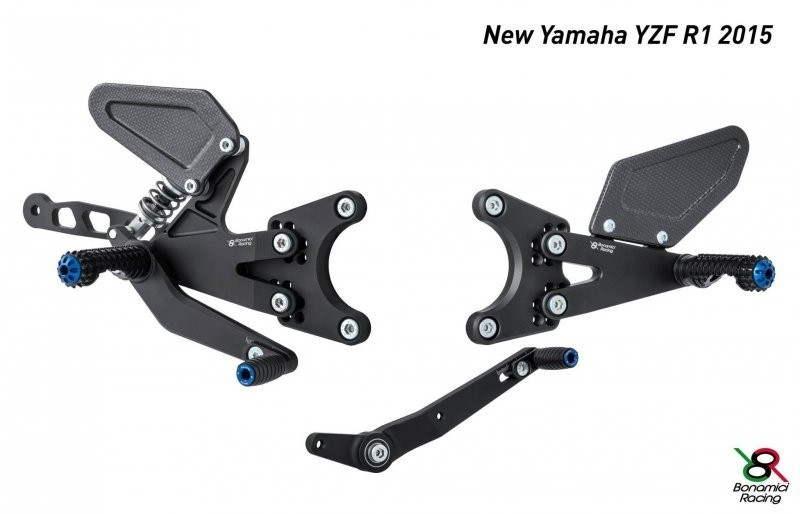 Bonamici Racing 2015-2016 Yamaha YZF-R1 Adjustable Billet Rearsets