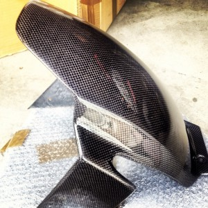 09-14 YZF-R1 Lacomoto Superbike Carbon Fiber Rear Hugger
